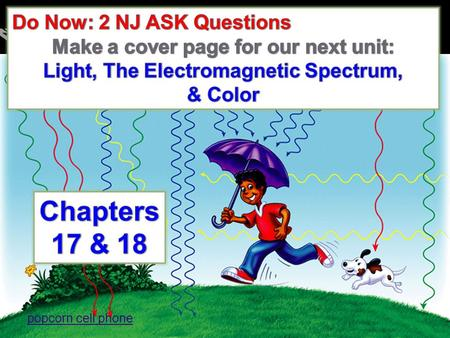 Chapters 17 & 18 The Electromagnetic Spectrum