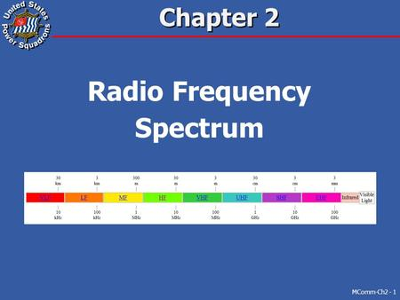 Chapter 2 Radio Frequency Spectrum MComm-Ch2 - 1.