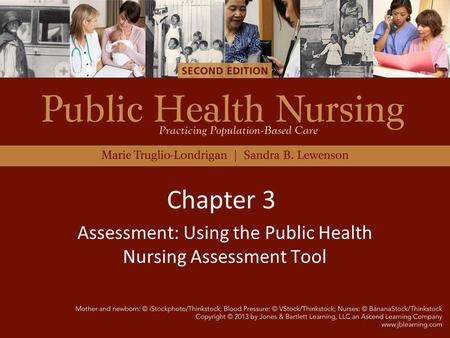 Assessment: Using the Public Health Nursing Assessment Tool Chapter 3.