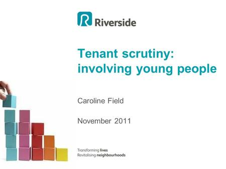 Tenant scrutiny: involving young people Caroline Field November 2011.