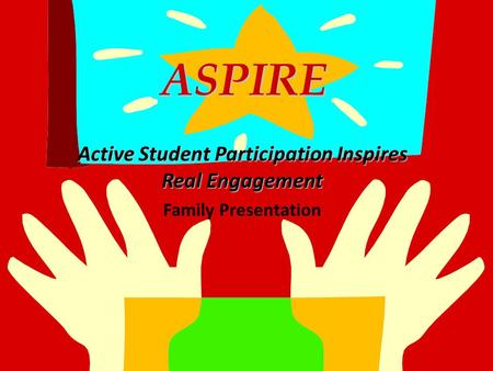 ASPIRE ASPIRE Active Student Participation Inspires Real Engagement Family Presentation.