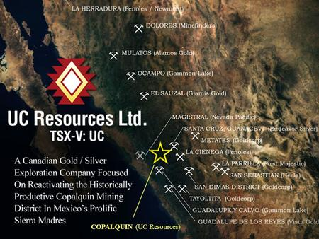 COPALQUIN (UC Resources). Disclaimer The information provided in this presentation is not intended to be a comprehensive review of all matters and developments.
