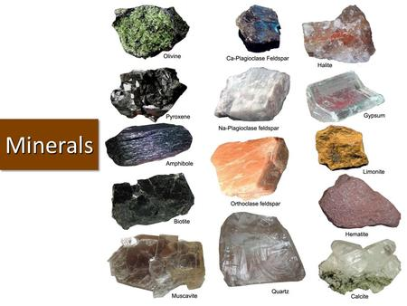 MineralsMinerals. Question of the Day Question: Describe 2 of the stations from your minerals lab. Answer: ……… Turn In: Classifying Items Minerals Lab.