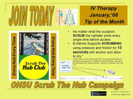 OHSU Scrub The Hub Campaign