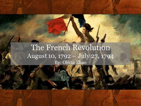 Essay French Revolution