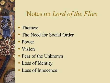 order to chaos essay in lord of flies