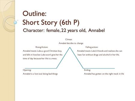 Outline: Short Story (6th P)