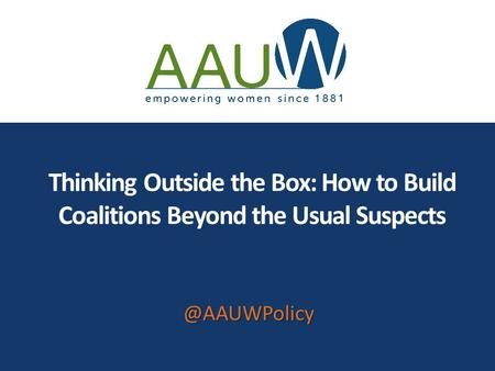Thinking Outside the Box: How to Build Coalitions Beyond the Usual