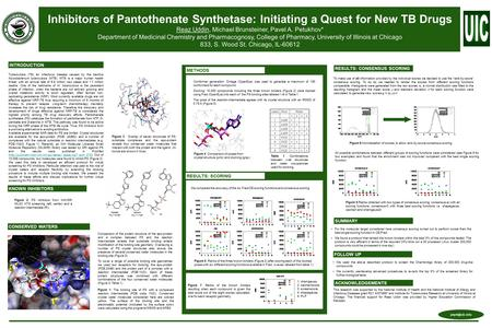 Inhibitors of Pantothenate Synthetase: Initiating a Quest for New TB Drugs Reaz Uddin, Michael Brunsteiner, Pavel A. Petukhov* Department of Medicinal.
