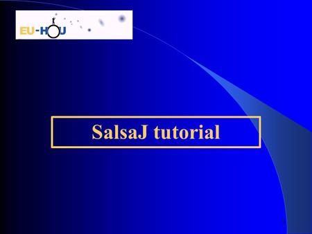 1 SalsaJ tutorial. 2  Installation  Open an image  Make a profile  Get a LUT  Photometry  Basic operations (add/subtract, etc.)  RGB photometry.