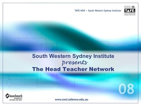 South Western Sydney Institute presents The Head Teacher Network.