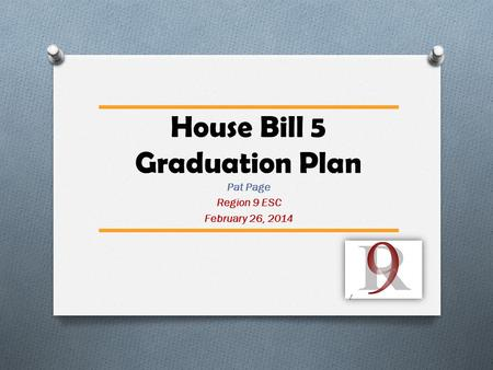 House Bill 5 Graduation Plan