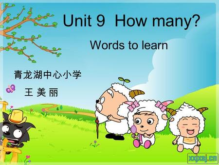 Unit 9 How many? Words to learn 青龙湖中心小学 王 美 丽. How many _____ are there? There are ____.