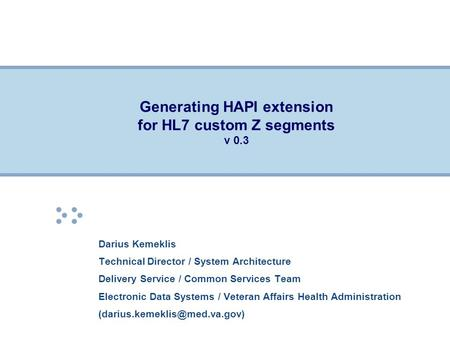 Generating HAPI extension for HL7 custom Z segments v 0.3