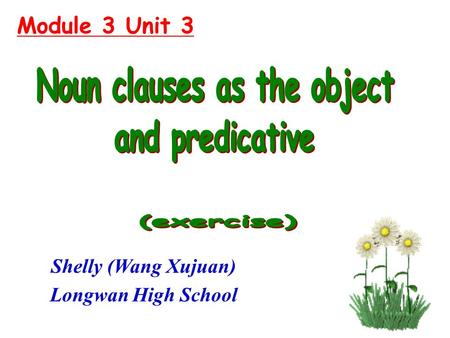 Module 3 Unit 3 Shelly (Wang Xujuan) Longwan High School.