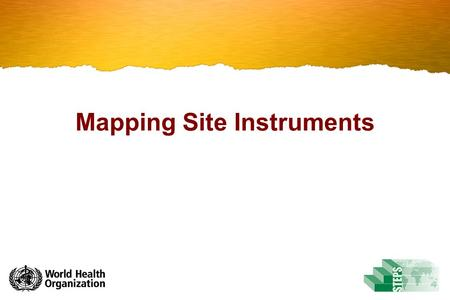 Mapping Site Instruments. Introduction The Mapped Instrument is a tool that guides you in matching your site specific Instrument and materials to the.