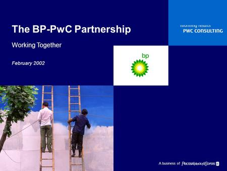  1  A business of  The BP-PwC Partnership Working Together February 2002.