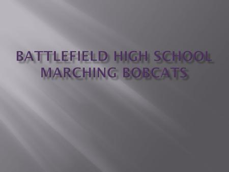 "Charlottesville Calacade  High General Effect - Class ""A""  2nd Place Auxiliary - Class ""A""  1st Place Band – Class ""A"" Powhatan - Invitational  1st."