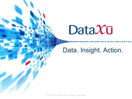 Data. Insight. Action. © 2011-2012 DataXu, Inc. Privileged & Confidential1.