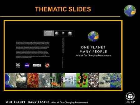 THEMATIC SLIDES. INTRODUCING THE PLANET Topographic Map of the World.