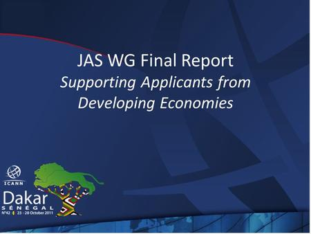 JAS WG Final Report Supporting Applicants from Developing Economies.