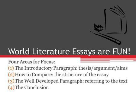 introductory paragraph literary essay To write a literary analysis,  expand on and discuss certain elements in your analysis to write a clear and lucid essay  introductory paragraph.