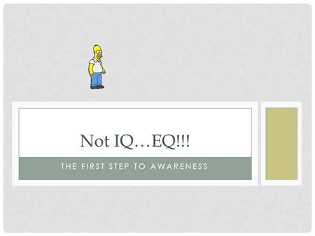 THE FIRST STEP TO AWARENESS Not IQ…EQ!!!. An example of how what you don ' t know can hurt you! Nationally, what do you think is the #1 reason students.