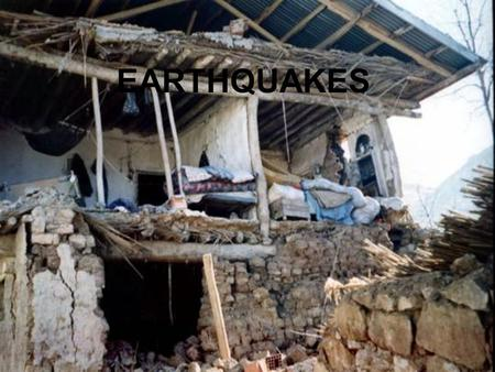 EARTHQUAKES. Earthquakes & Plate Tectonics It is a vibration in the crust due to the release of stress Causes a shift in the rocks along a fault or plate.