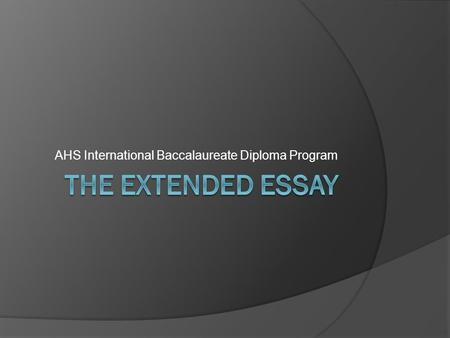 ib extended essay film 1 a student guide to writing the extended essay richard montgomery high school international baccalaureate magnet class of 2016 extended essay guide.