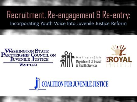 Recruitment, Re-engagement & Re-entry: Incorporating Youth Voice Into Juvenile Justice Reform.
