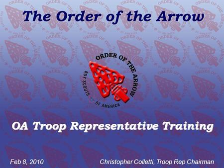 OA Troop Representative Training