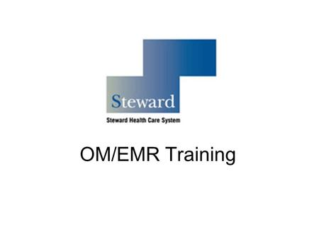OM/EMR Training. Agenda Introduction to the EMR Non-Med Order and Order Set Entry Consults Acknowledgment and Incomplete Orders Post-Filing Edits to Orders.