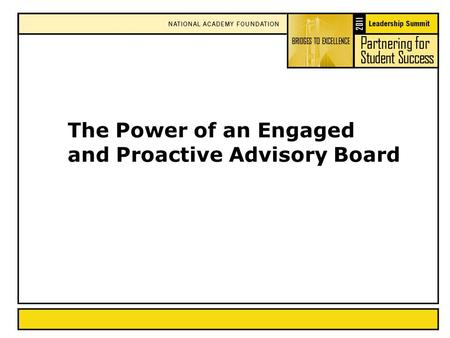 The Power of an Engaged and Proactive Advisory Board.