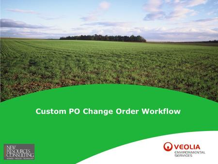 Custom PO Change Order Workflow. 2 Presenters Mike Simonson – Director Enterprise Systems (VESNA) Laurie Hertz – P2P Support Lead (VESNA) Brian Morrison.