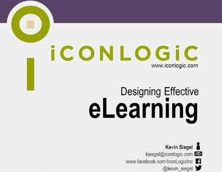 eLearning Designing Effective Kevin