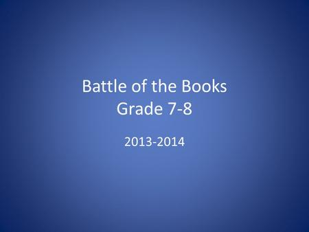 Battle of the Books Grade 7-8 2013-2014. Told from multiple points of view.