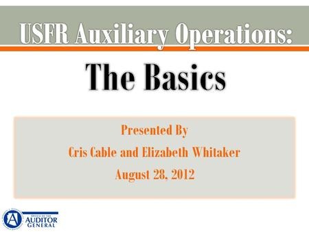 Presented By Cris Cable and Elizabeth Whitaker August 28, 2012.