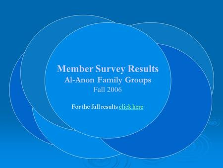 Member Survey Results Al-Anon Family Groups Member Survey Results Al-Anon Family Groups Fall 2006 For the full results click hereclick here.