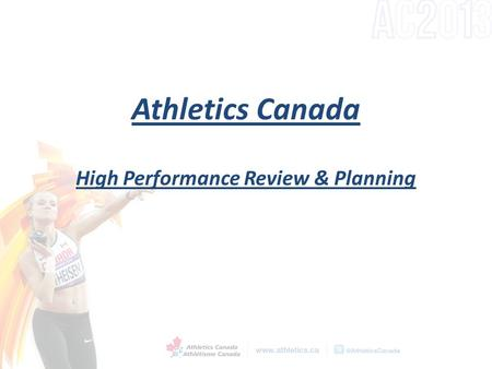 Athletics Canada High Performance Review & Planning.
