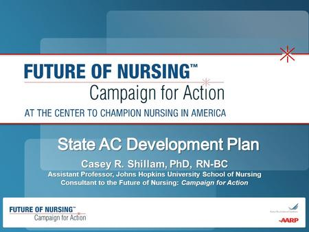 Casey R. Shillam, PhD, RN-BC Assistant Professor, Johns Hopkins University School of Nursing Consultant to the Future of Nursing: Campaign for Action.