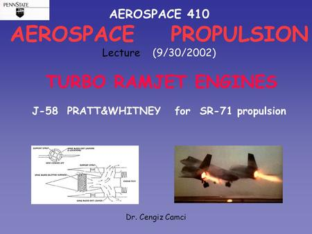 J-58 PRATT&WHITNEY for SR-71 propulsion