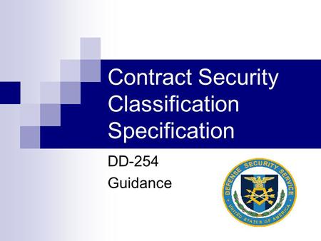Contract Security Classification Specification