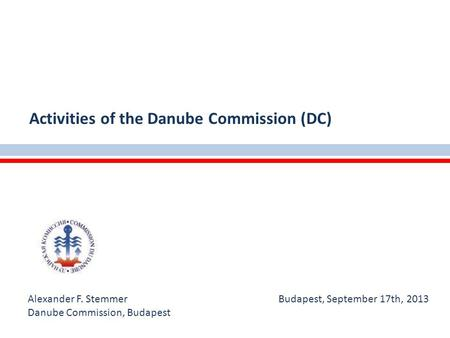 Activities of the Danube Commission (DC)