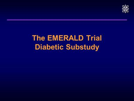 The EMERALD Trial Diabetic Substudy. EMERALD Diabetic Analysis To compare myocardial perfusion and infarct sizes in diabetic and non-diabetic patients.
