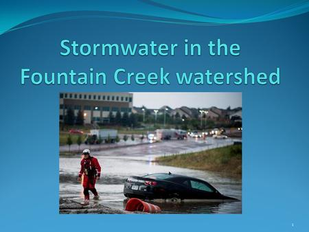 1. 2 Current stormwater system - ASCE 2012 report card CapacityD- Operations & MaintenanceD+ ConditionF Drainage Basin PlanningF Program & Funding Public.