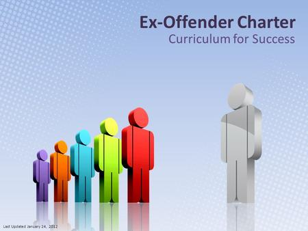 Ex-Offender Charter Curriculum for Success Last Updated January 24, 2012.