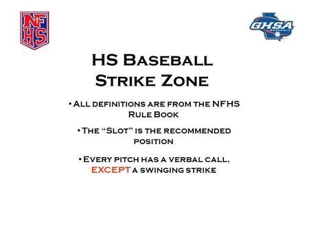HS Baseball Strike Zone