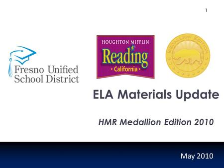 ELA Materials Update HMR Medallion Edition 2010