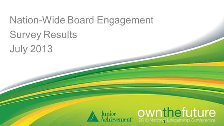 Nation-Wide Board Engagement Survey Results July 2013 1.