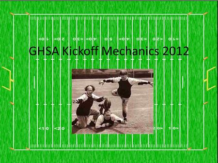 GHSA Kickoff Mechanics 2012. 3658 21 68741264 54 89 88 84 C 36 8 21 68 74 12 64 54 89 88 84 C 8 After a score, H, L, F & S move to the receiving team's.